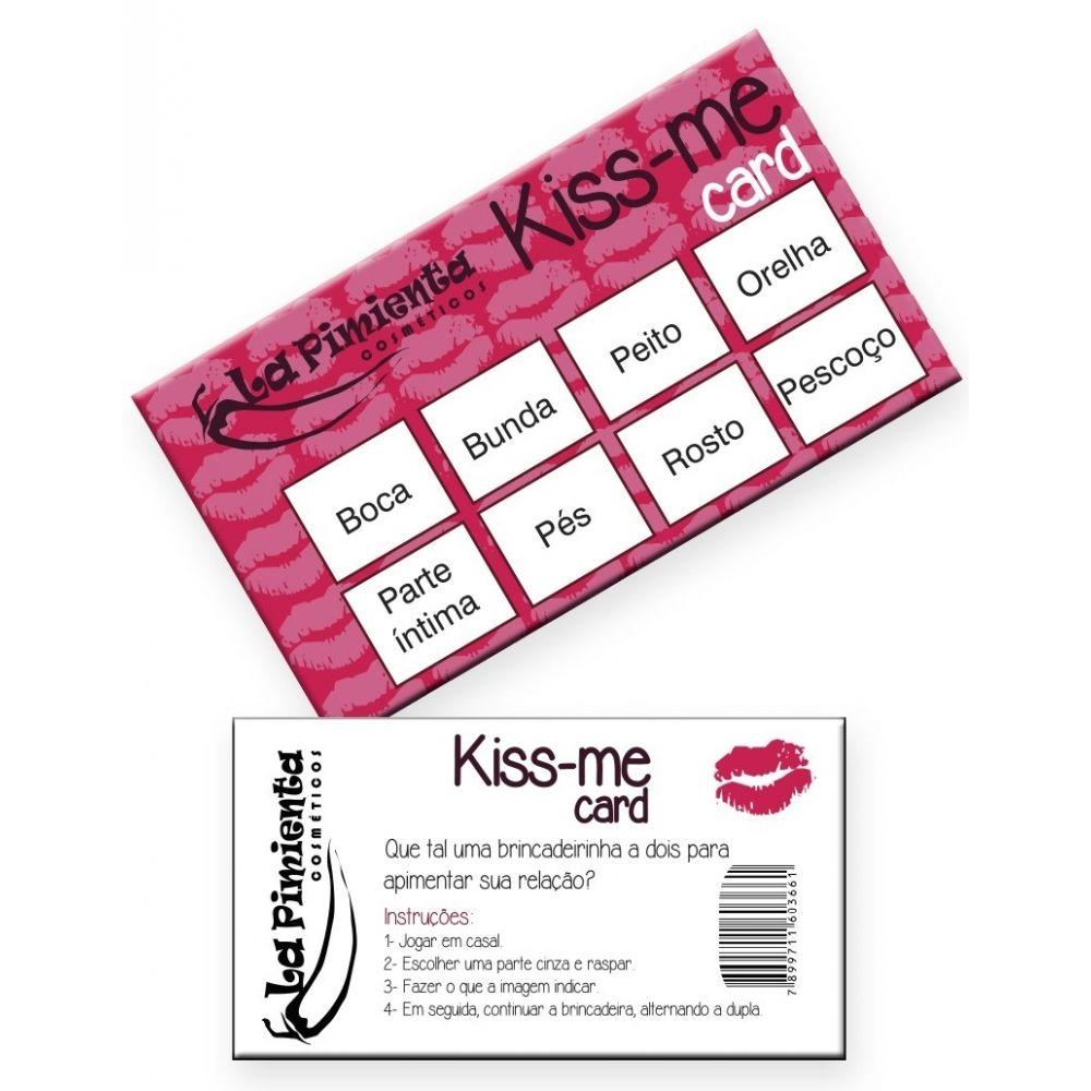 Raspadinha Kiss Me Card 5 unidades - La Pimenta