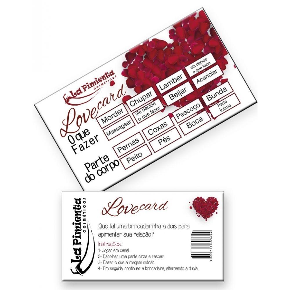 Raspadinha Love Card 5 unidades - La Pimenta