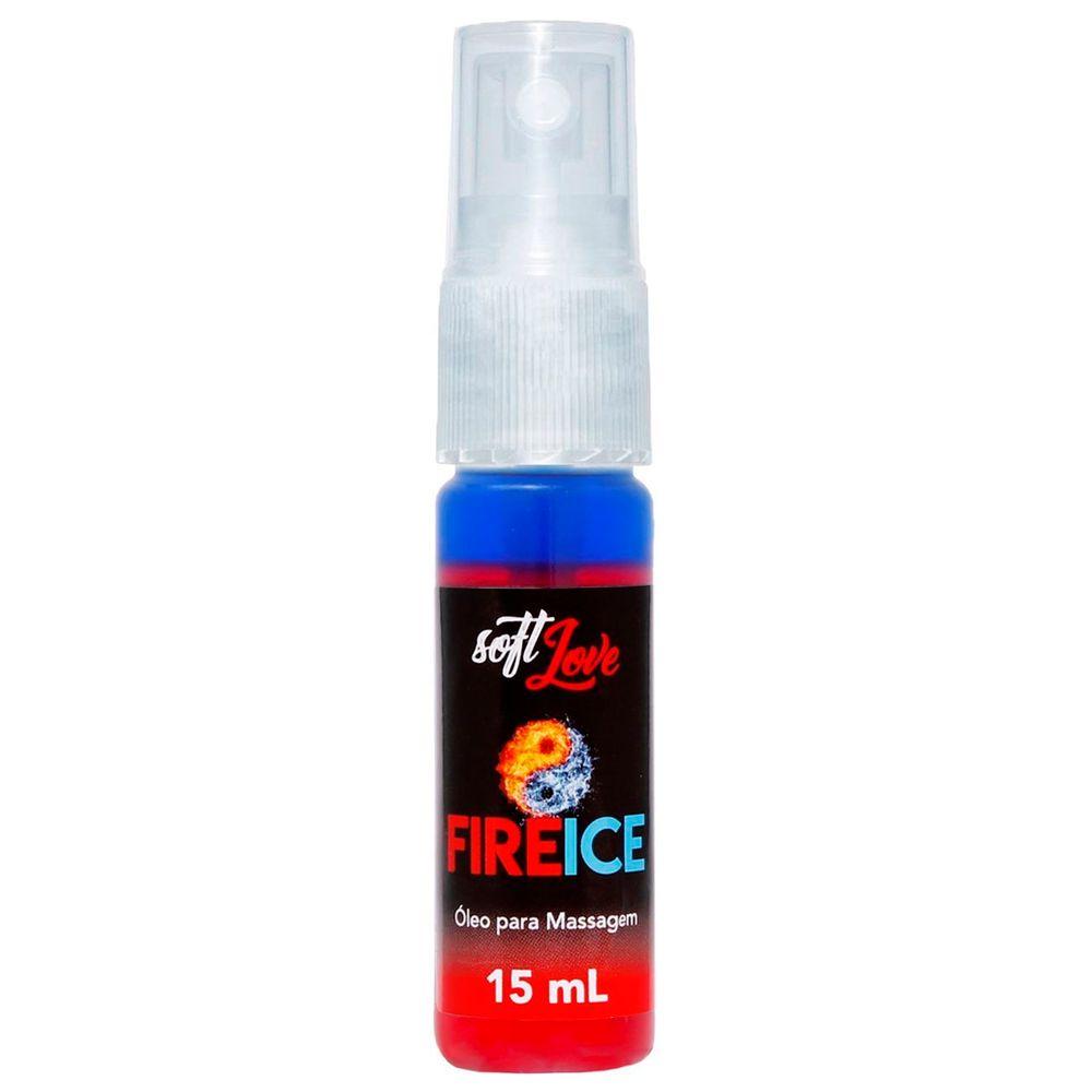 Fire Ice Spray para Massagem 15g - Soft Love