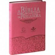 A BIBLIA RA DA PREGADORA CP COURO SINT S/INDICE  - GOIABA