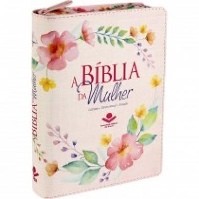 A BIBLIA RC DA MULHER C/ZIPER CP SINT - IMPRESSA ROSA