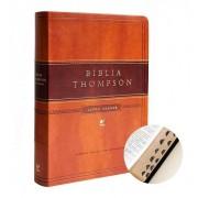 BIBLIA AEC THOMPSON LETRA GRANDE CP LUXO C/INDICE - MARROM CLARO/ESCURO