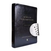 BIBLIA AEC THOMPSON LETRA GRANDE CP LUXO C/INDICE - PU PRETA