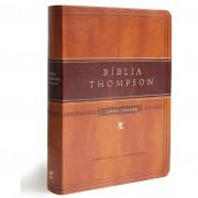 BIBLIA AEC THOMPSON LETRA GRANDE CP LUXO S/ INDICE - MARROM CLARO/ESCURO