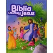 BIBLIA CRESCENDO COM JESUS CP DURA ILUSTRADA - AZUL