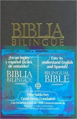 BIBLIA DHHGNT65D BILINGUE E ESPANHOL - PRETO