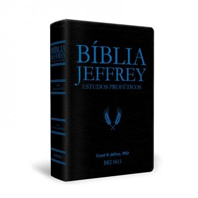 BIBLIA JEFFREY ESTUDOS PROFETICOS C/CONCORDANCIA E PILCROWS - PRETA E AZUL