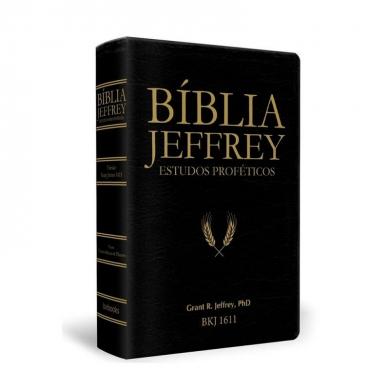 BIBLIA JEFFREY ESTUDOS PROFETICOS C/CONCORDANCIA E PILCROWS - PRETA E DOURADA