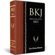BIBLIA KING JAMES 1611 ESTUDO HOLMAN CP LUXO - PRETO
