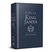BIBLIA KING JAMES ATUALIZADA LUXO - AZUL