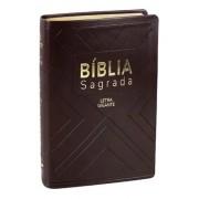 BIBLIA NA SAGRADA LETRA GIGANTE CP SINT C/INDICE  - MARROM