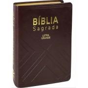 BIBLIA NA SAGRADA LETRA GRANDE CP SINT C/INDICE  - MARROM