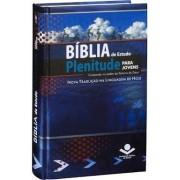 BIBLIA NTLH DE ESTUDO PLENITUDE PARA JOVENS CP DURA - AZUL