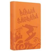 BIBLIA NTLH SAGRADA TEEN SURFER - LARANJA