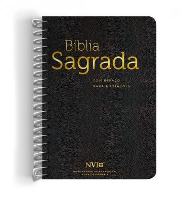 BIBLIA NVI ANOTE ESPIRAL CLASSICA - PRETO