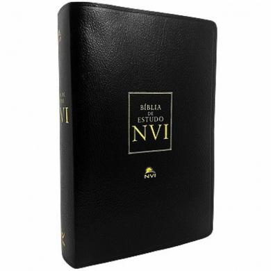 BIBLIA NVI DE ESTUDO CP LUXO S/INDICE - PRETA