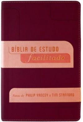 BIBLIA NVI DE ESTUDO FACILITADO - VINHO