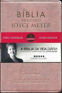 BIBLIA NVI DE ESTUDO JOYCE MEYER - ROSA