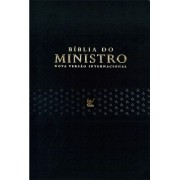 BIBLIA NVI DO MINISTRO CP LUXO - PU PRETA