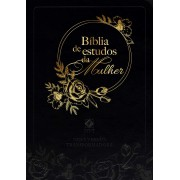 BIBLIA NVT DE ESTUDO DA MULHER CP COURO - PRETA