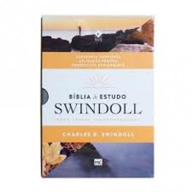 BIBLIA NVT DE ESTUDO SWINDOLL - CINZA