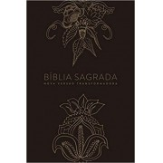 BIBLIA NVT LN CP DURA INDIAN FLOWERS DOURADA
