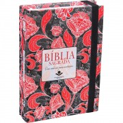 BIBLIA RA C/ELASTICO CADERNO ANOTACOES CP DURA - VERMELHA
