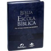 BIBLIA RA DA ESCOLA BIBLICA CP LUXO - AZUL NOBRE