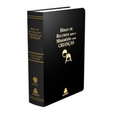 BIBLIA RA DE RECURSOS PARA MINISTERIO COM CRIANCAS CP LUXO - PRETA