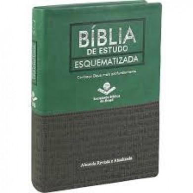 BIBLIA RA ESTUDO ESQUEMATIZADA CP LUXO - VERDE