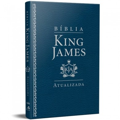 BIBLIA RA KING JAMES SLIM - AZUL