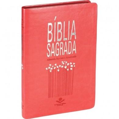BIBLIA RA SAGRADA SLIM CP SINT - PESSEGO
