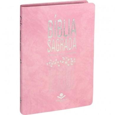 BIBLIA RA SAGRADA SLIM CP SINT - ROSA NOBRE