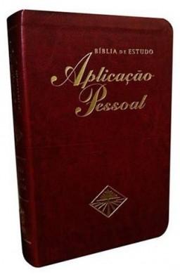 BIBLIA RC DE ESTUDO APLICACAO PESSOAL GRANDE - VINHO
