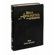 BIBLIA RC DE ESTUDO APOLOGETICA CP LUXO - PRETA