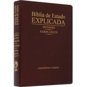 BIBLIA RC DE ESTUDO EXPLICADA COM HARPA E DICIONARIO - VINHO