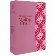 BIBLIA RC DE ESTUDO MULHER CRISTA CP LUXO - PU ROSA