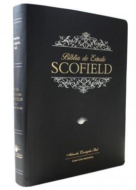 BIBLIA RC DE ESTUDO SCOFIELD CP LUXO - PRETA