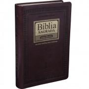 BIBLIA RC SAGRADA LETRA GIG C/INDICE - MARROM NOBRE