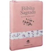 BIBLIA RC SAGRADA LETRA GIG C/INDICE ZIPER - ROSA