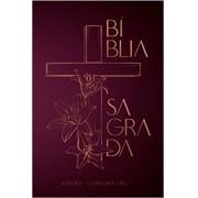 BIBLIA RC SAGRADA SOFT TOUCH CP DURA - CRUZ FLORAL