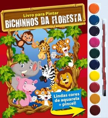 LIVRO AQUARELA BICHINHOS DA FLORESTA