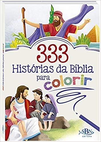 333 HISTORIAS DA BIBLIA PARA COLORIR - TODOLIVRO