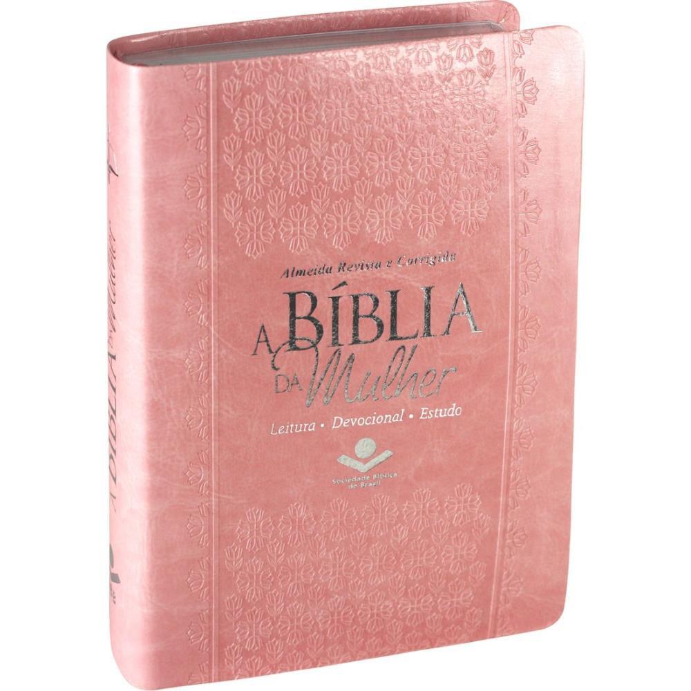 A BIBLIA RC DA MULHER MEDIA CP SINT - ROSA CLARO