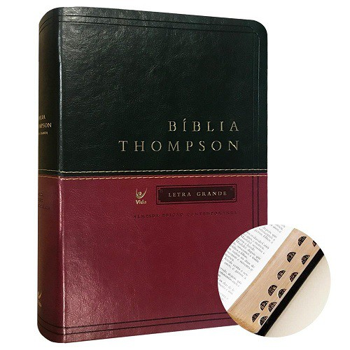 BIBLIA AEC THOMPSON LETRA GRANDE CP LUXO C/INDICE - VERDE/VINHO
