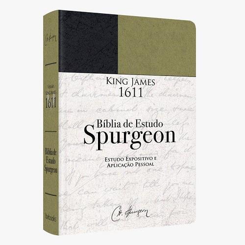 BIBLIA DE ESTUDO SPURGEON KING JAMES 1611 CP DURA - VERDE