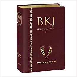 BIBLIA KING JAMES 1611 ESTUDO HOLMAN CP LUXO - VINHO