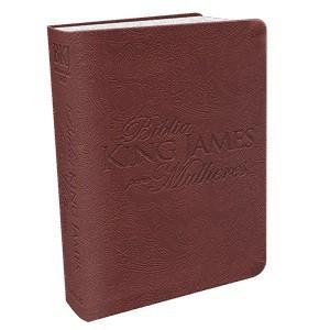 BIBLIA KING JAMES PARA MULHERES CP LUXO - MARROM