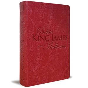 BIBLIA KING JAMES PARA MULHERES CP LUXO - VERMELHO