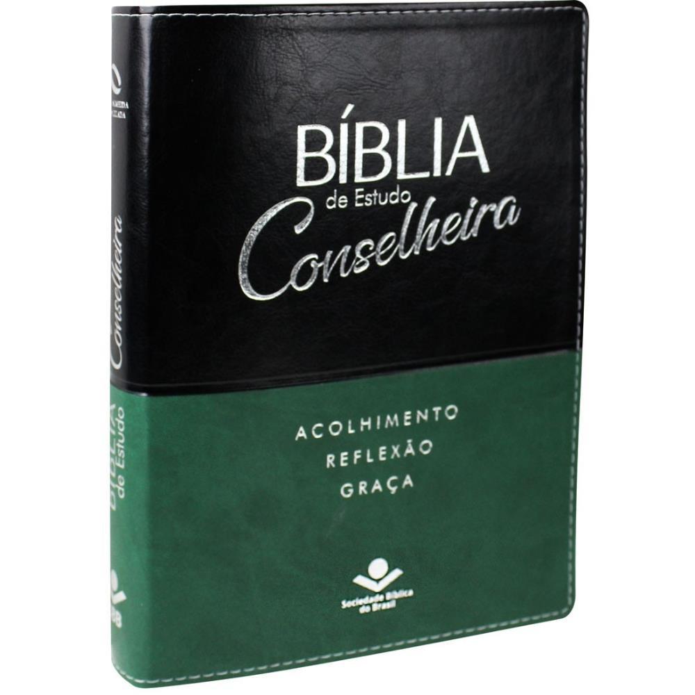 BIBLIA NA DE ESTUDO CONSELHEIRA CP SINT - PRETO COM VERDE